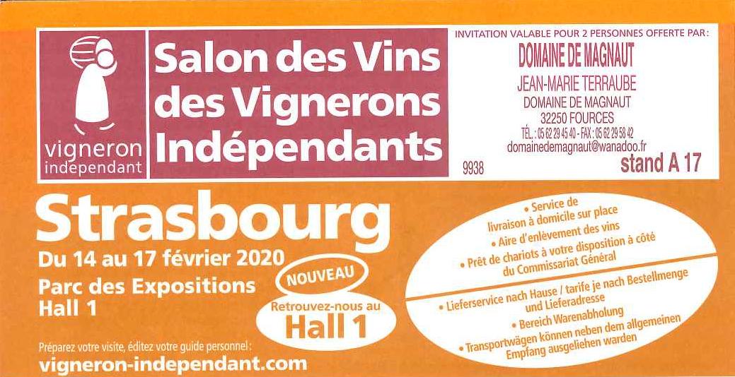 Salon Strasbourg du 14 au 17 Février 2020 !