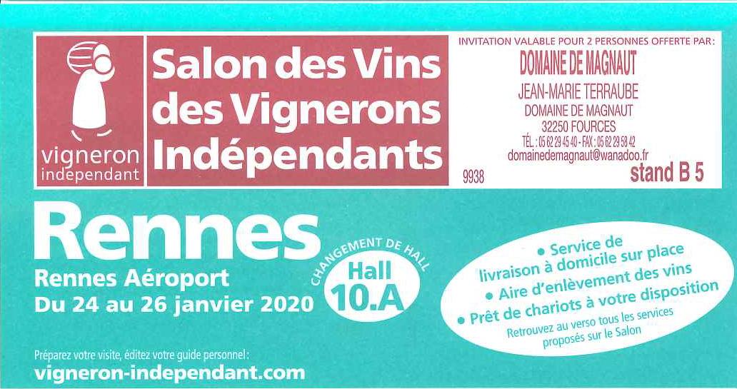 Salon Rennes du 24 au 26 Janvier 2020 !