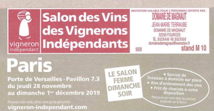 Salon Paris du 28 Novembre au 01 Décembre !