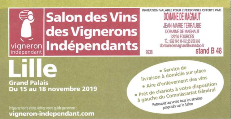 Salon Lille du 15 au 18 Novembre !