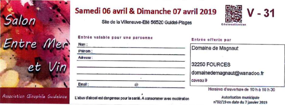 Salon Guidel en Bretagne du 06 au 07 Avril 2019 !