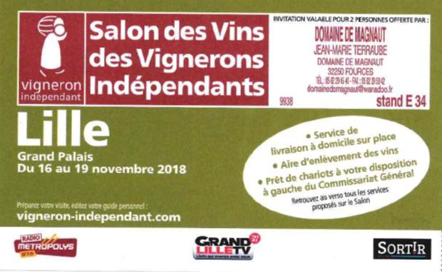 Salon Lille du 16 au 19 Novembre !