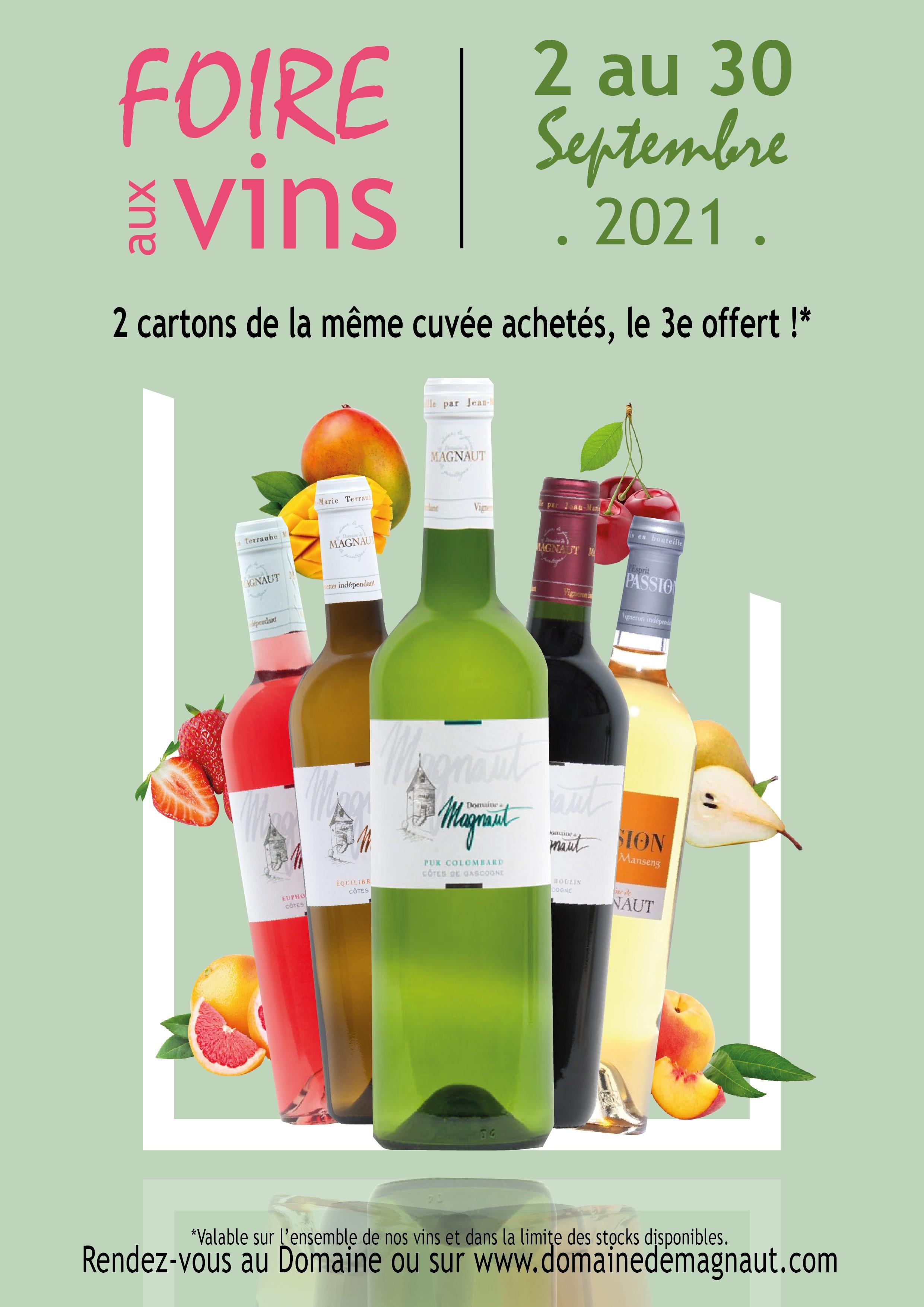 Foire aux vins - septembre 2021 - RUPTURE EUPHORIE DE ROSE, MANSENG SEC, EDEN BLANC