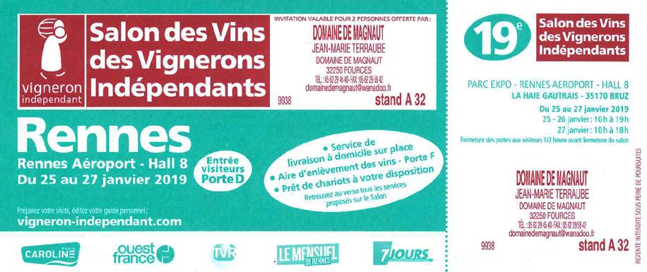 Salon Rennes du 25 au 27 Janvier 2019 !