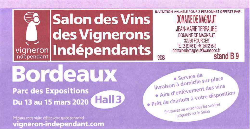 Nouvelle date pour le Salon Bordeaux du 19 au 21 Juin  2020 !